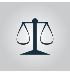 Scales balance icon sign and button vector image