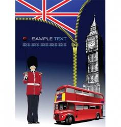 zipper open London vector image vector image