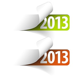 2013 new year stickers vector image vector image