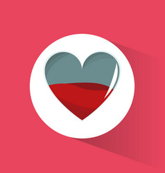 blood heart health symbol vector image