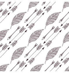 boho hand drawn doodle seamless pattern eps10 vector image