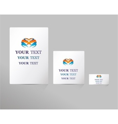 Business style templates for your project design vector image
