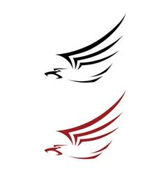 tattoo hawk vector image