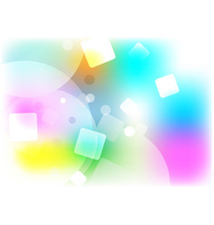abstract background multi shape color concept vector image vector image