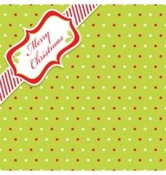 Christmas polka dot vector