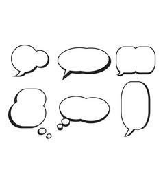 comic text speech bubble star set dialog empty vector image