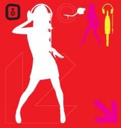 DJ party elements vector image