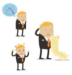 Falling sales businessman vector