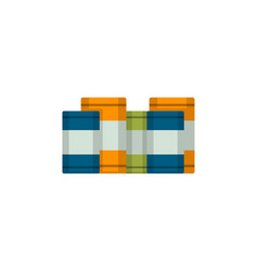 metal barrels isolated icon in flat style vector image