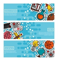 Set of Horizontal Banners about education vector image