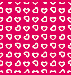 valentines day background seamless hearts pattern vector image