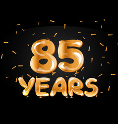 85 years anniversary gold logo vector image