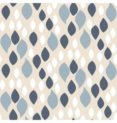 Abstract blue on beige petals pattern vector image