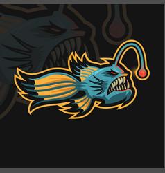 Angler fish esport vector