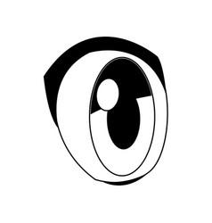 Anime eye style comic look icon vector