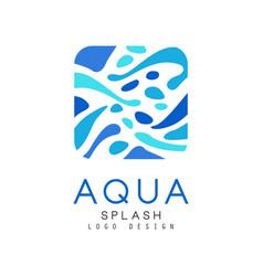 Aqua splash logo design corporate identity vector