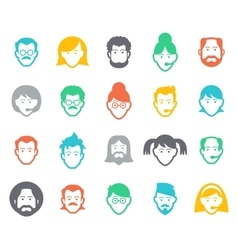 Avatar and people icons vector