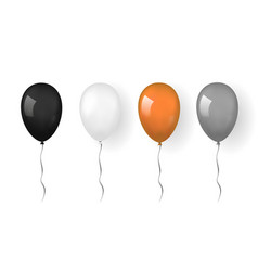 Balloon 3d icon isolated white background baloon vector