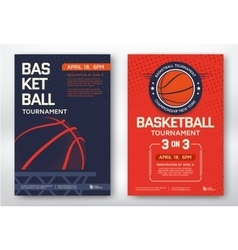 Basketball tournament posters vector