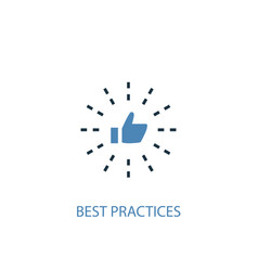 best practices concept 2 colored icon simple blue vector image