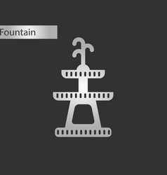 black and white style icon halloween fountain vector image