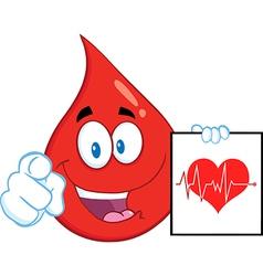 Blood drop cartoon vector image