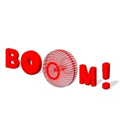BOOM 3d text Boom poster isolated white vector