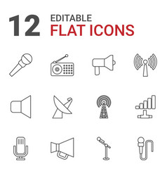 Broadcast icons vector