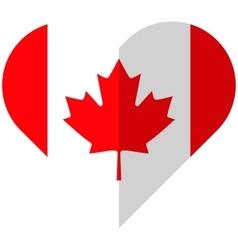 Canada flat heart flag vector
