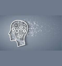 cog wheels forming a brain vector image