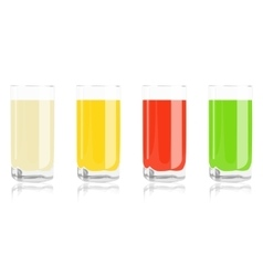 colored cocktails in glass vector image
