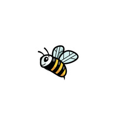 creative cute little bee logo vector image