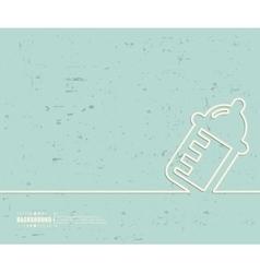 Creative nursing bottle Art vector