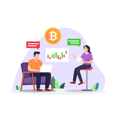 cryptocurrency investment concept vector image