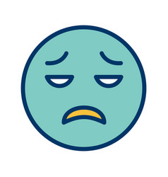 Disappointed emoji icon vector