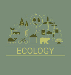 ecology concept ecology concept vector image