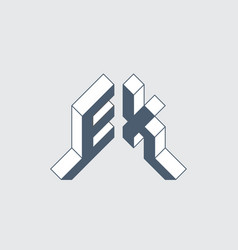 Ex - 2-letter code e and x - monogram or logotype vector