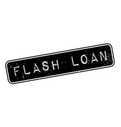 flash loan rubber stamp vector image
