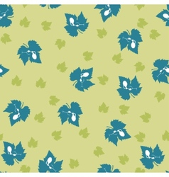 Grape leaf pattern vector image
