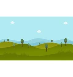 Green landscape flat vector image