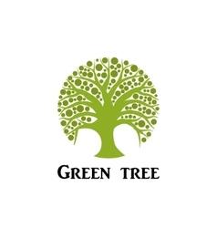 Green tree circle icon Garden concept vector