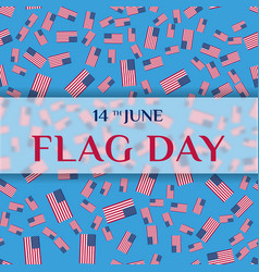 Greeting card of flag day vector