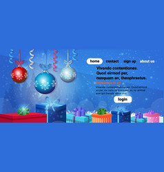 happy new year merry christmas concept holiday vector image