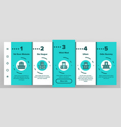 house balcony forms onboarding mobile app vector image