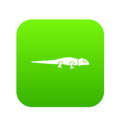 iguana icon digital green vector image