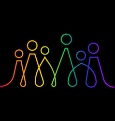 Inclusion and diversity infographic lgbtq banner vector