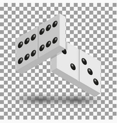 Items to play dominoes isometric vector