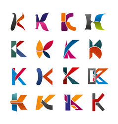 letter k icon of abstract alphabet font design vector image