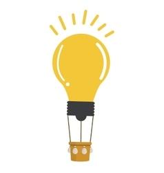 lightbulb hot air balloon icon vector image
