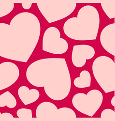 Love seamless pattern with hearts valentines day vector
